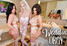 "Jennifer White, LaSirena69, Skye Blue in ""Wedding Orgy 5"""